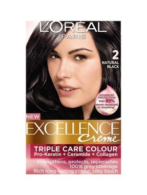 Loreal Excellence Creme 2 Natural Black Hair Color Amp Dye