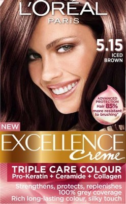 Loreal Excellence Creme 5 15 Iced Brown Hair Color Amp Dye