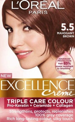 Loreal Excellence Creme 5 5 Mahogany Brown Hair Color