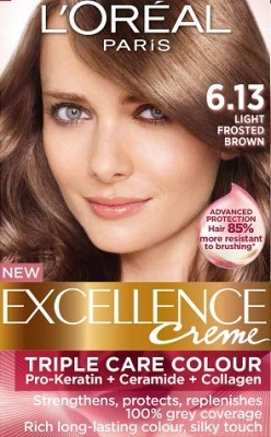 Loreal Excellence Creme 6 13 Light Frosted Brown Hair