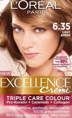 Loreal Excellence Creme 6 35 Light Amber Hair Color