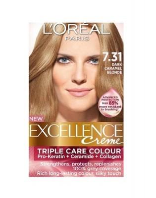 Loreal Excellence Creme 7 31 Dark Caramel Blonde Hair
