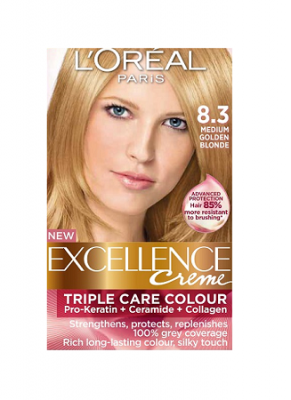 Loreal Excellence Creme 8 3 Medium Golden Blonde Hair