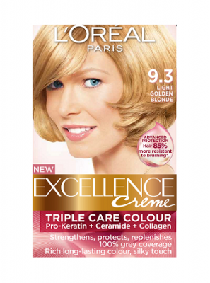 Loreal Excellence Creme 9.3 Light Golden Blonde - Hair ...