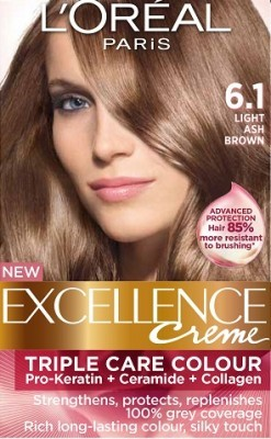 Loreal Excellence Creme 6.1 Light Ash Brown - Hair Color
