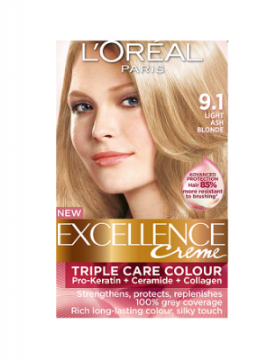 Loreal Excellence Creme 9.1 Light Ash Blonde - Hair Color